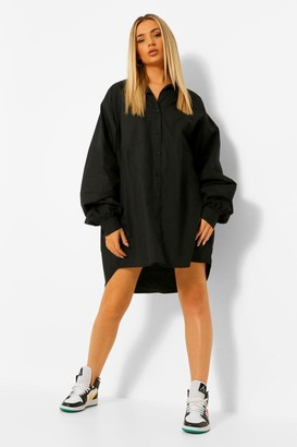 boohoo Extreme Oversized Pocket Shirt Dress