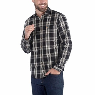 Visit The Carhartt Store Carhartt Men's Long-Sleeve Essential Open Collar Shirt Plaid
