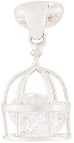 E.m. caged crystal earring