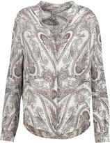 L'Agence Bianca printed silk crepe de chine shirt