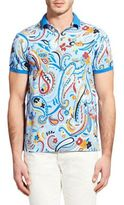Etro Paint Brush Art Modern-Fit Polo