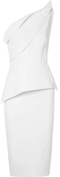 Roland Mouret Mendes One-shoulder Wool-crepe Dress - White