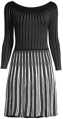 Emporio Armani Two-Tone Knit Dress