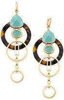 Kate Spade Sun-Kissed Sparkle Gold-Tone Triple-Drop Geometric Earrings