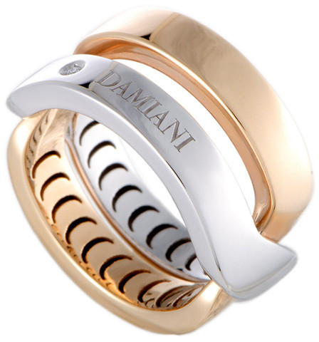 Damiani 18K Two-Tone Diamond Ring