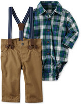 Carter's 3-Pc. Plaid Bodysuit, Suspenders and Pants Set, Baby Boys (0-24 months)