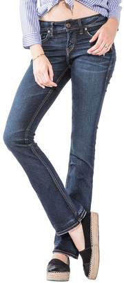 Silver Jeans Co. Women's Co Elyse Relaxed Fit Mid Rise Slim Bootcut