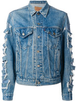 R 13 ripped style denim jacket - women - Cotton - S