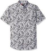 Nick Graham Men's Iron Man Arc Reactor Tropical Short Sleeve Sport Shirt