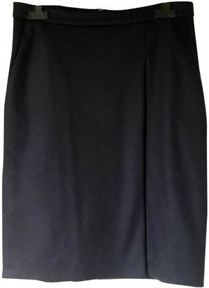 Max Mara Navy Wool Skirt for Women