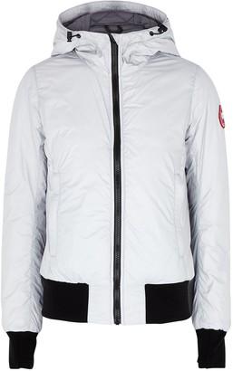 Canada Goose Dore Light Grey Shell Bomber Jacket