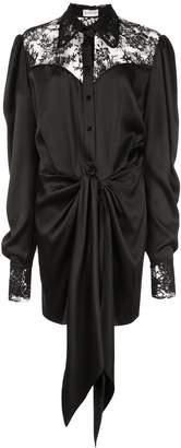 Magda Butrym floral lace shirt dress