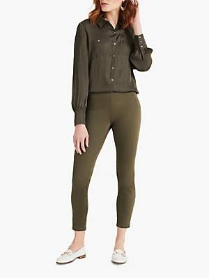 Phase Eight Amina Darted Jeggings, Khaki