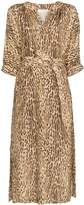 Zimmermann leopard-print midi dress