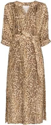 Zimmermann leopard-print midi dress