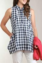 Casual Studio Check Cotton Tunic Top