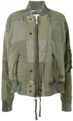 Greg Lauren Patchwork Bomber Jacket