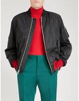 Calvin Klein 205w39nyc Contrast-hem Satin Bomber Jacket