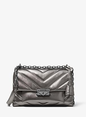 Michael Kors Cece Medium Quilted Metallic Leather Convertible Shoulder Bag