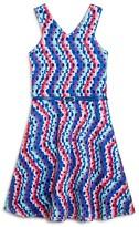 Us Angels Girls' Geo Print Flared Dress - Big Kid