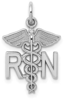 Macy's Registered Nurse Charm in 14k White Gold