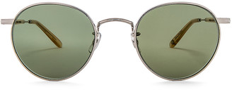 Garrett Leight Wilson M 49 in Silver & Blonde & Semi-Flat Green | FWRD