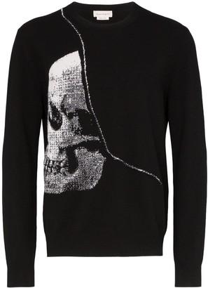 Alexander McQueen intarsia skull crew-neck sweater