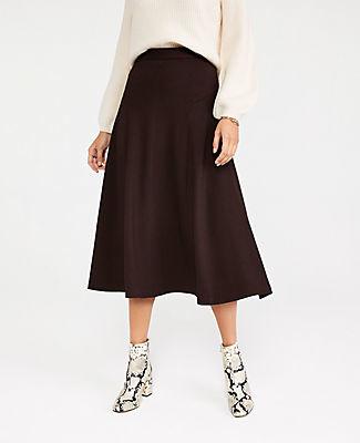 Ann Taylor Seamed Full Skirt