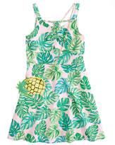 Us Angels Tropical Print Sundress, Big Girls