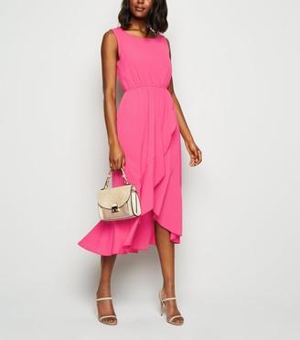 New Look Mela Bright Ruffle Hem Dress