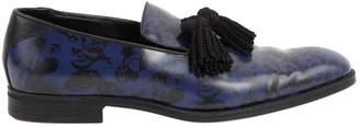 Jimmy Choo Blue Leather Lace ups