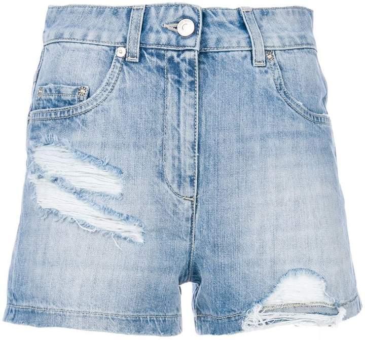 Moschino distressed denim shorts