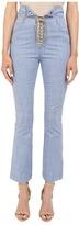 Just Cavalli Tie Front Five-Pocket Pants