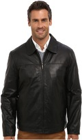 Perry Ellis Leather Bomber Jacket EP620330