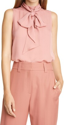 Judith & Charles Bow Back Sleeveless Silk Blouse