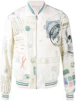 Alexander McQueen letters from India bomber jacket - men - Nylon/Viscose - 52
