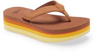 Sanuk Yoga Mat Stacker Flatform Flip Flop