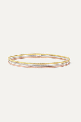 Carolina Bucci Set Of Three 18-karat Yellow, White And Rose Gold Bangles - one size