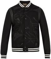 Valentino Panther-print Wool Varsity Jacket