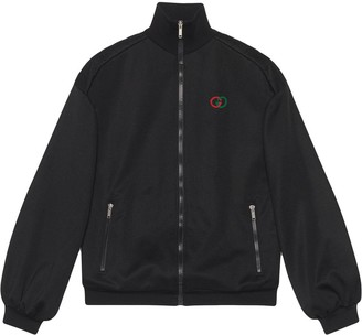 Gucci elbow pad embroidered logo jacket