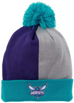 Mitchell & Ness Hornets Over & Back Cuffed Pom Pom Beanie