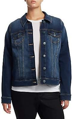 Slink Jeans, Plus Size Women's Full-Length Denim Jacket
