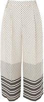 Topshop PETITE Spot & Stripe Crop Wide Leg Trousers