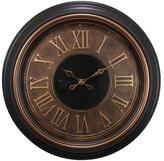 Kiera Grace Genoa Oversized 23 in. Wall Clock with Raised Numbers 2 in. D - Antiqued Bronze with Brushed Copper Bezel