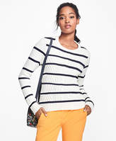 Brooks Brothers Cotton Stripe Crewneck Sweater