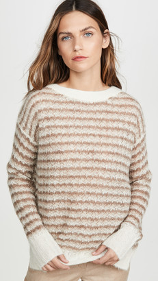 Theory Alpaca Stripe Pullover