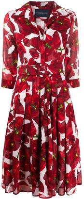 Samantha Sung Audrey tulip print shirt dress