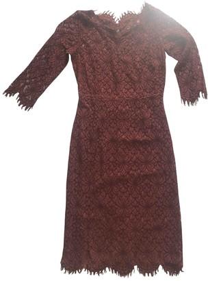 Twin-Set Twin Set Brown Lace Dress for Women