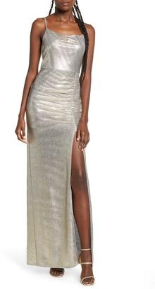 Speechless Metallic Sleeveless Maxi Dress
