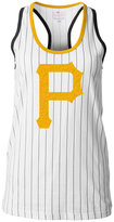 5th & Ocean Women's Pittsburgh Pirates Pinstripe Glitter Tank Top